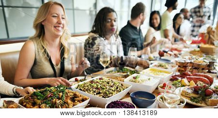 Buffet Dining Food Celebration Party Concept