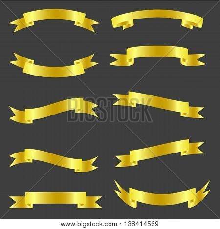 ribbon, vector, flag, form, sign, element, fabric, icon, frame, bending, pattern