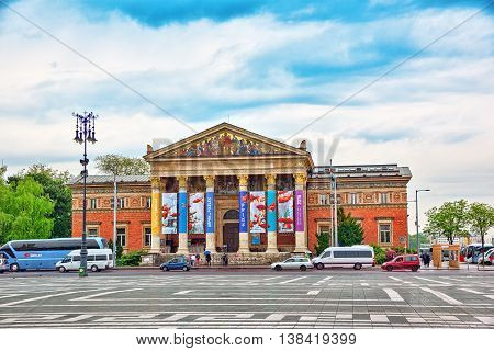 Budapest, Hungary, - May 02, 2016:hall Of Art, Budapest (  Palace Of Art),contemporary Art Museum In