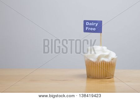 Dairy Free Iced Cupcake