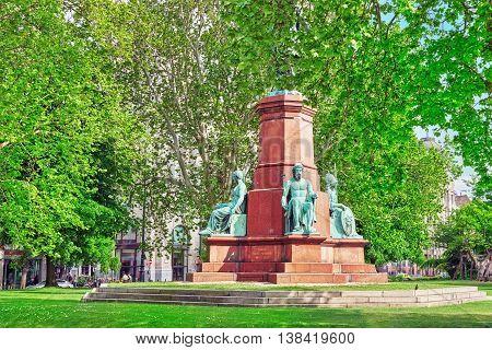 Budapest, Hungary -may 02,2016 :istvan Szechenyi Monument.istvan Szechenyi De Sarvar-felsovidek, Hun