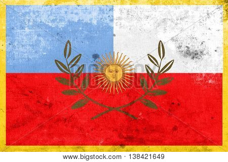 Flag Of Catamarca Province, Argentina, With A Vintage And Old Lo