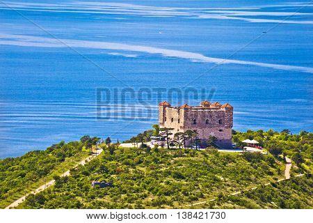 Nehaj fortress in Senj coast Velebit channel of Croatia