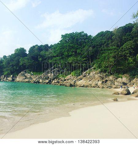 wild beach on the west coast of Phuket