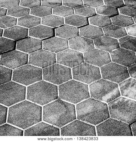 Dark Gray Honeycomb Cobblestone Pattern