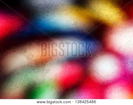 Horizontal vivid dirty light blob bokeh abstraction background backdrop