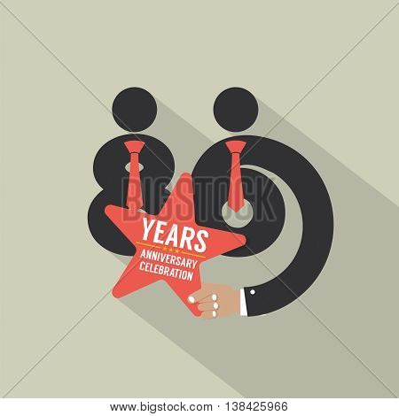 86th Years Anniversary Typography Design Vector Illustration. EPS 10