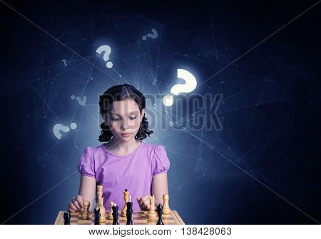 Chess game for clever mind . Mixed media