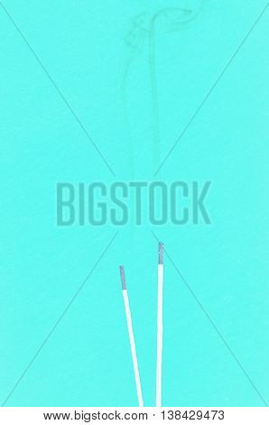Abstract white smoke from an incense sticks