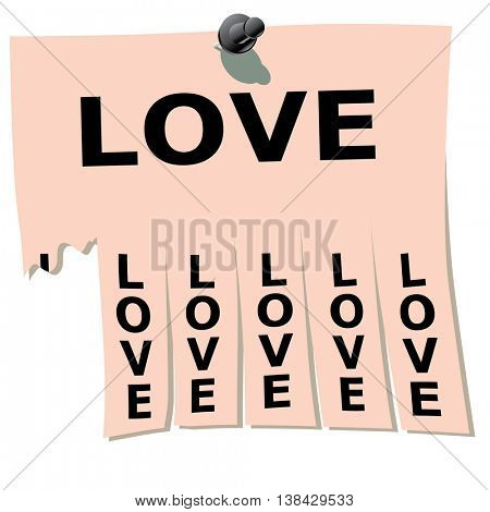 A small piece of paper.  Remember love.