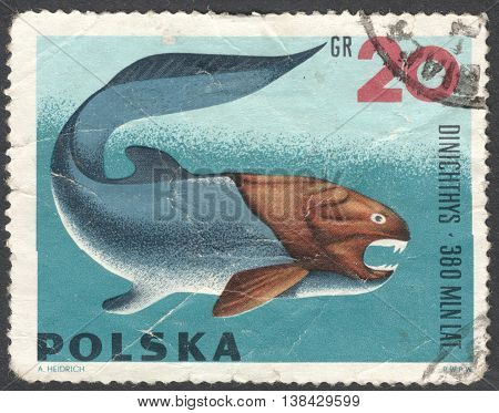 MOSCOW RUSSIA - CIRCA JANUARY 2016: a post stamp printed in POLAND shows an animal