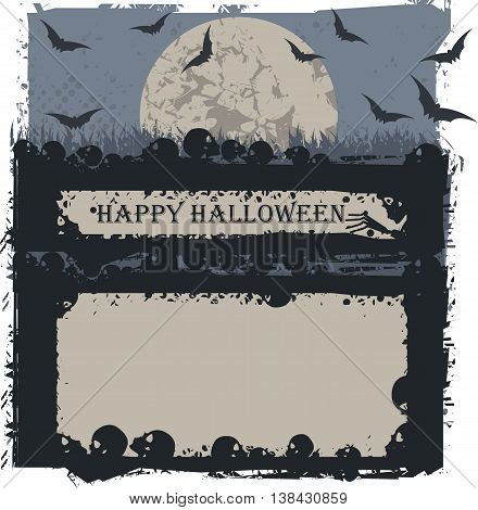 Halloween background for greeting card, poster ,banner ,invitation and more creative designs.