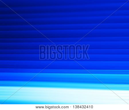 Horizontal Vivid Blue Motion Blur Panels Abstraction Background