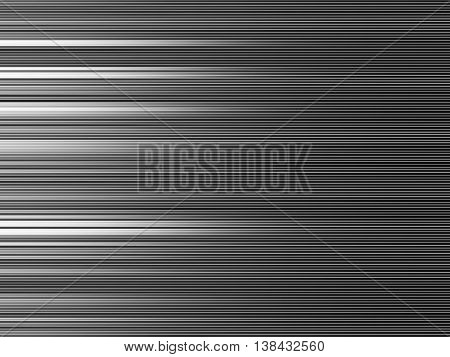 Horizontal Black And White Blurred Abstraction Lines Background