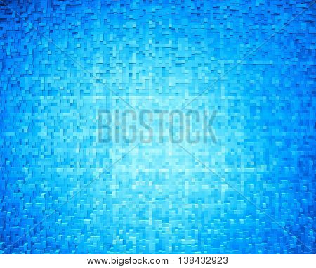 Horizontal cyan 3d cube extruded blocks abstract background
