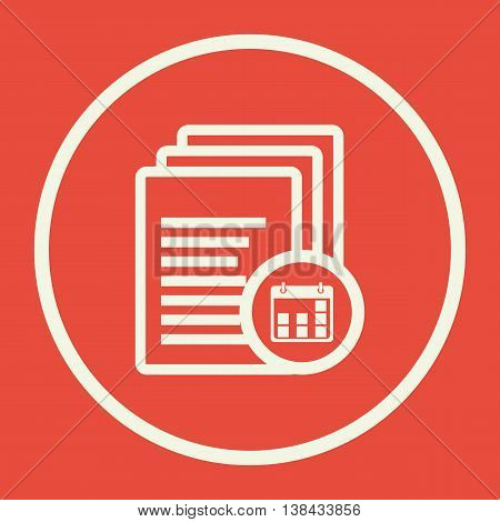 Files Date Icon In Vector Format. Premium Quality Files Date Symbol. Web Graphic Files Date Sign On
