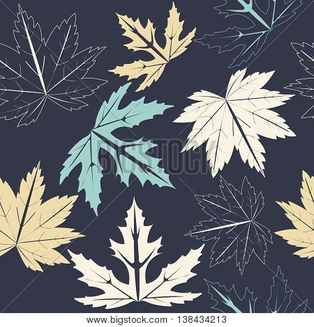 Stylish seamless pattern with autumn leaves can be used for linen ,tile, design fabric ,web pages, cover and more creative designs.