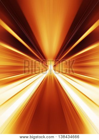 Orange Abstract Teleport Tunnel Motion Blur Background