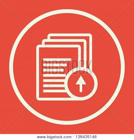 Files Up Icon In Vector Format. Premium Quality Files Up Symbol. Web Graphic Files Up Sign On Red Ba