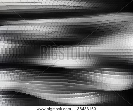 Horizontal Black And White 3D Extrude Cubes Waves Business Backg