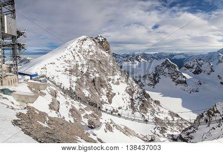 Holiday in Switzerland, panorama view of winter in Mount Titlis Switzerland