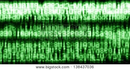 Horizontal green matrix information data abstraction background
