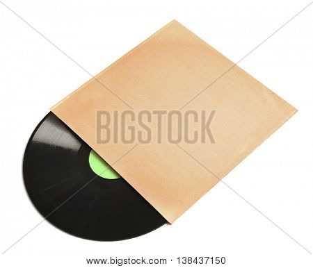 Vinyl record, isolated on white