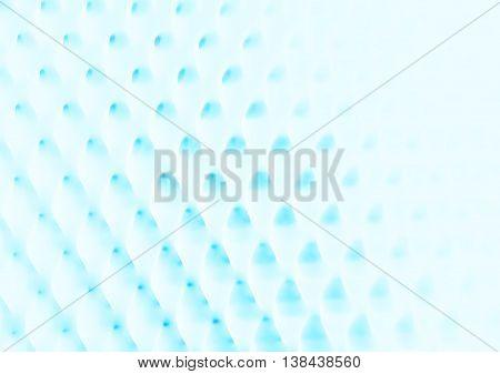 Horizontal Cyan Blob Grid Illustration Background
