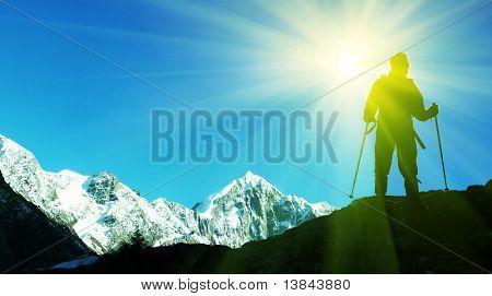 Climber on top