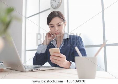 Businesswoman Using Mobile Apps