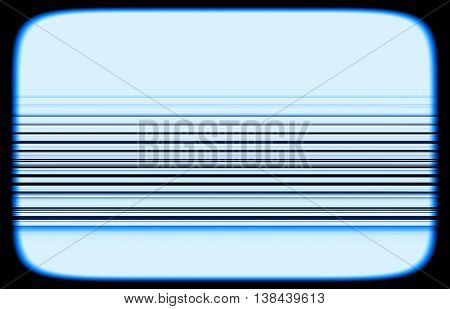 Horizontal Tv Blue Interlaced Signal Lines Illustration Backgrou