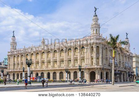 HAVANA, CUBA - MARCH 17, 2016: The Great Theater in Havana the capital of Cuba