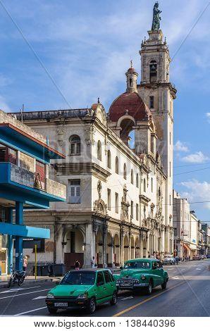 HAVANA, CUBA - MARCH 17, 2016: Street life scenery in Havana the capital of Cuba