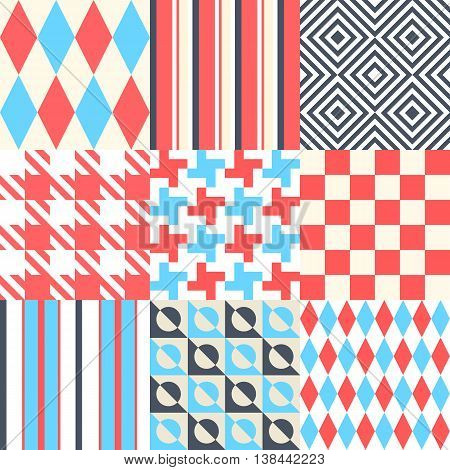Vector illustration. Chess and striped background. Multicolor design.