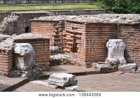 Ruins at St George Church, Sofia, Bulgaria
