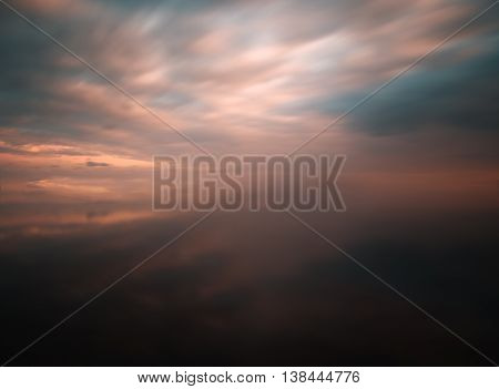 Blank empty space varitone vivid cloudscape reflection background backdrop slow shutter