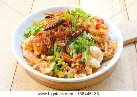 Wings Bean Spicy Salad,Thai food,People of Thailand called it Yum-Tua-Phuu
