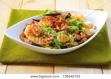 Wings Bean Spicy Salad,Thai food,People in Thailand called it Yum-Tua-Phuu