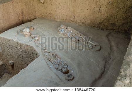 Skeleton Graveyard For Soldiers Of World War 2, At Prasat Muang Singh.