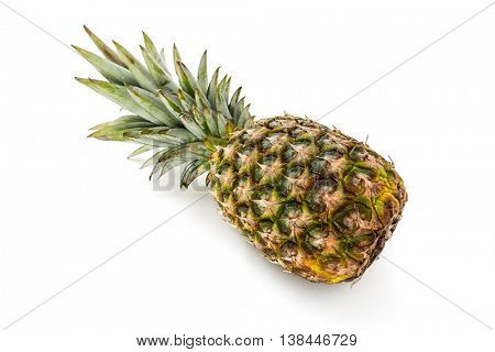 Pineapple on white background -Ananas tropical fruit