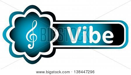 Double icon blue with a treble clef and the word vibe