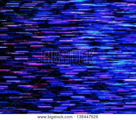 Square vivid 8-bit pixel dot interlaced space stars blast teleport abstraction background backdrop