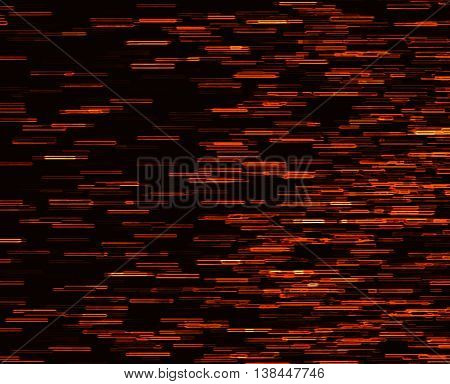 Square orange vivid 8-bit pixel dot interlaced space stars blast teleport abstraction background backdrop