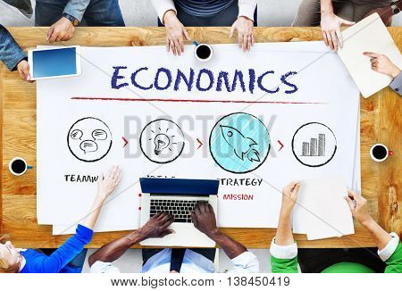 Economics Business Plan Growth Strategy Concept