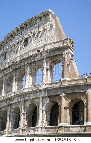 Colosseum - Landmark Of Rome, Italy.
