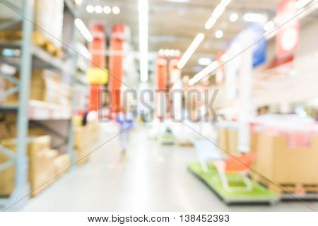 Home Mart Store Blur Background Bokeh