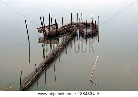 Fishermen, Hue, Vietnam, dropping fishing nets, the Tam Giang