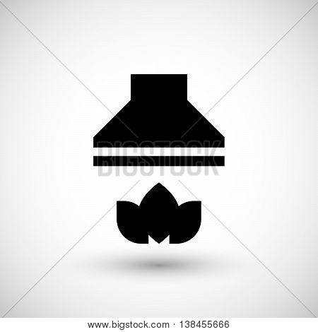 Kitchen hood icon isolated on grey. Vector illustration