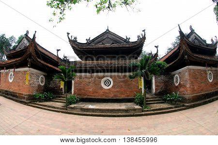 HA NOI, VIET NAM, March 22, 2016 ancient temple architecture western outskirts of Ha Noi, Vietnam