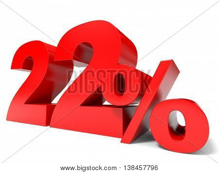 Red Twenty Two Percent Off. Discount 22%.